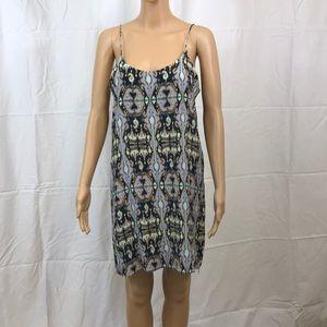 TIBI Silk Purple Ikat Print Slip Dress Sz 6